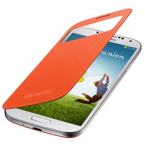 Samsung Original Galaxy S4 S View Cover - Orange