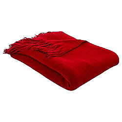 Fine Knit Throw, Red