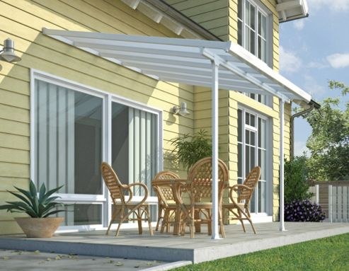 Palram Feria Lean To Carport And Patio Cover 3X4.2 White