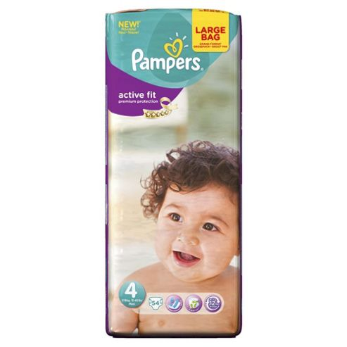 Pampers Active Fit Size 4 Large Pack - 54 nappies