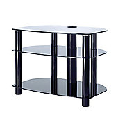 Alphason Sona, 3 Shelf Black Tv Stand For Tv'S Up To 32