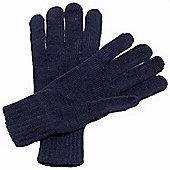 Regatta Knitted Gloves- -Navy