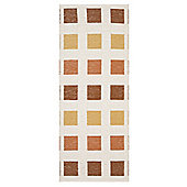 Swedy Cubo White / Orange Rug - 60 cm x 110 cm (2 ft x 3 ft 7 in)