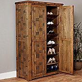 Baumhaus Heyford CRS20B Rough Sawn Oak Large Shoe Cupboard