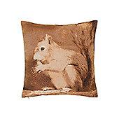 Squirrel Jacquard Cushion