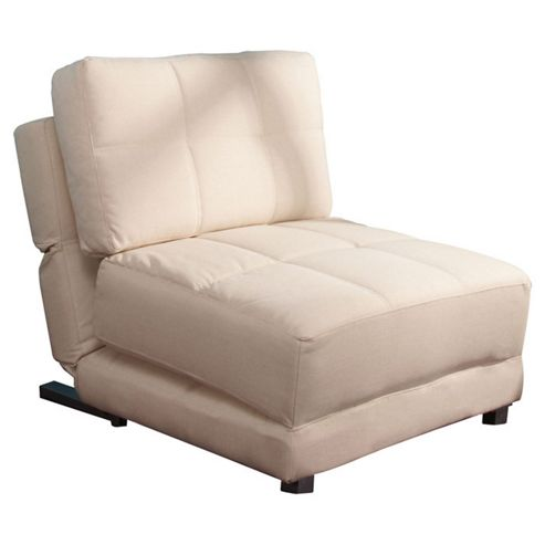 Leader Lifestyle Rita Futon Chair Bed - Beige Fabric