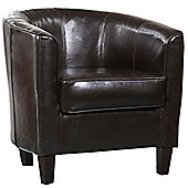 Global Furniture Direct 1 Seater Tub Chair - Brown