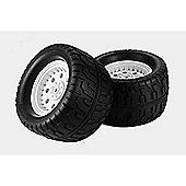 Tamiya 53562 Tgm02 144/85 Tarmactire & Wheel Ylw X2 - Rc Hop-Ups