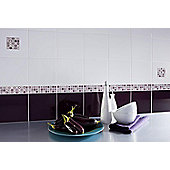 Colour Palette Aubergine Gloss Ceramic Wall Tile 148x148mm