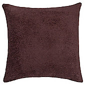 Plain Chenille Cushion, Chocolate