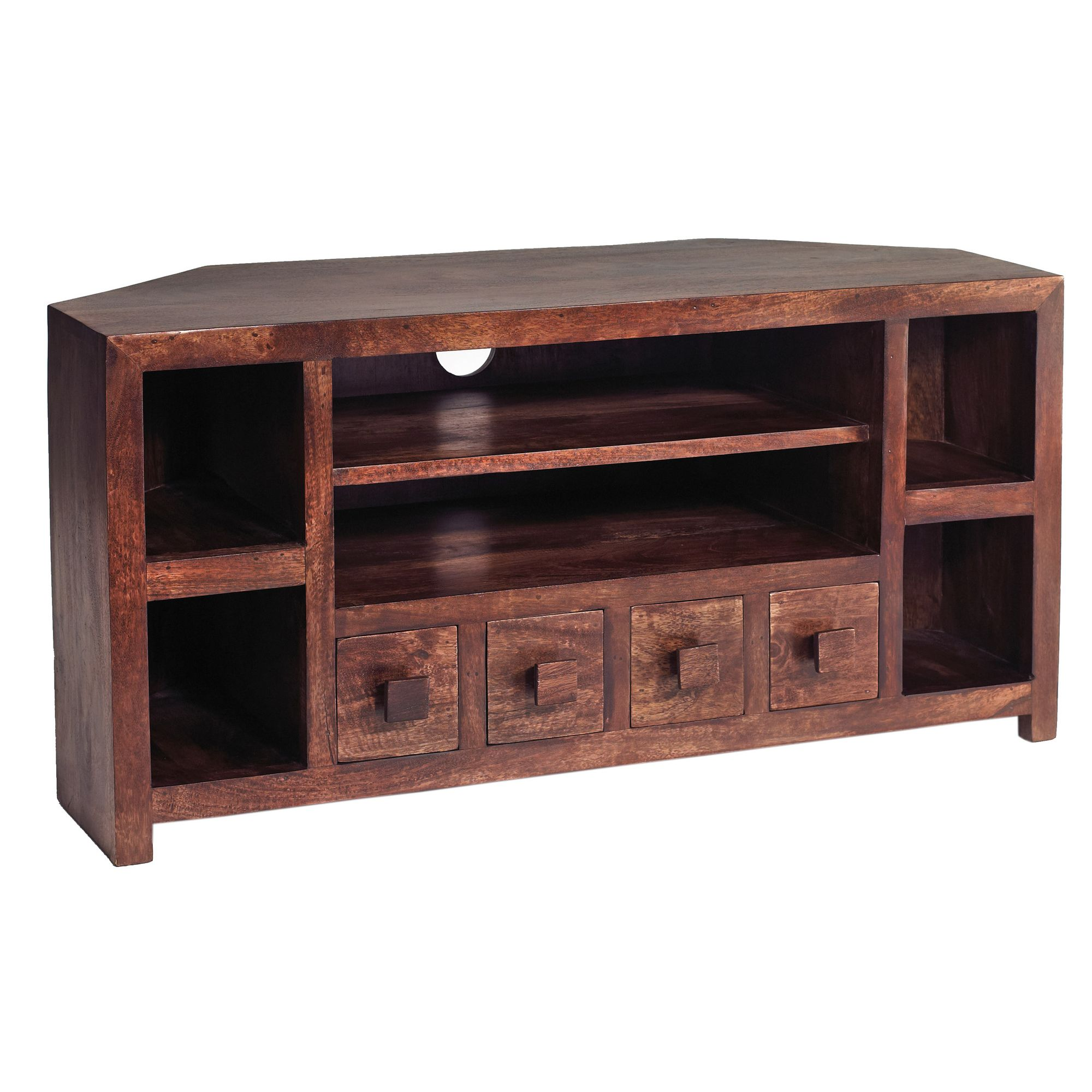 Indian Hub Mango Toko Corner TV Cabinet at Tesco Direct