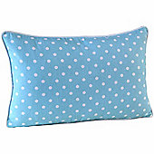 Homescapes Cotton Blue Polka Dots Scatter Cushion, 30 x 50 cm