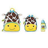 Skip Hop Zoo Pack, Lunch Bag and Straw Bottle Set Giraffe