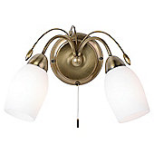 Endon Lighting Downlight Wall Light in Antique Brass