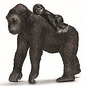 Schleich Female Gorilla With Baby 14662