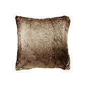 Linea Brown Faux Fur Cushion