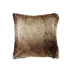 Linea Faux Fur Cushion - Brown