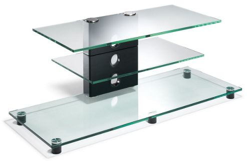 Elite Premium TV Stand - Transparent Glass - 110cm