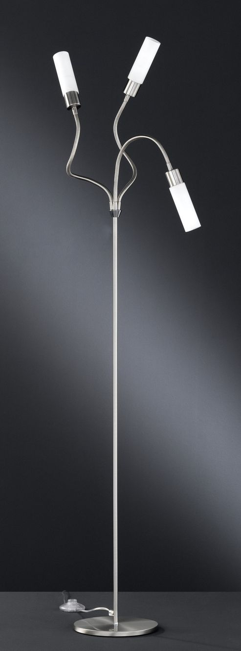 Wofi Katar Floor Lamp in Nickel