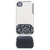 Night and Day iPhone 4 case White/lace IPGR-ND-WHT1-I4-DB