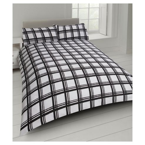 buy tesco check print duvet cover and pillowcase set from. Black Bedroom Furniture Sets. Home Design Ideas