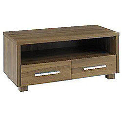 Highgate - Storage Tv Table / Entertainment Unit With 2 Drawers - Walnut
