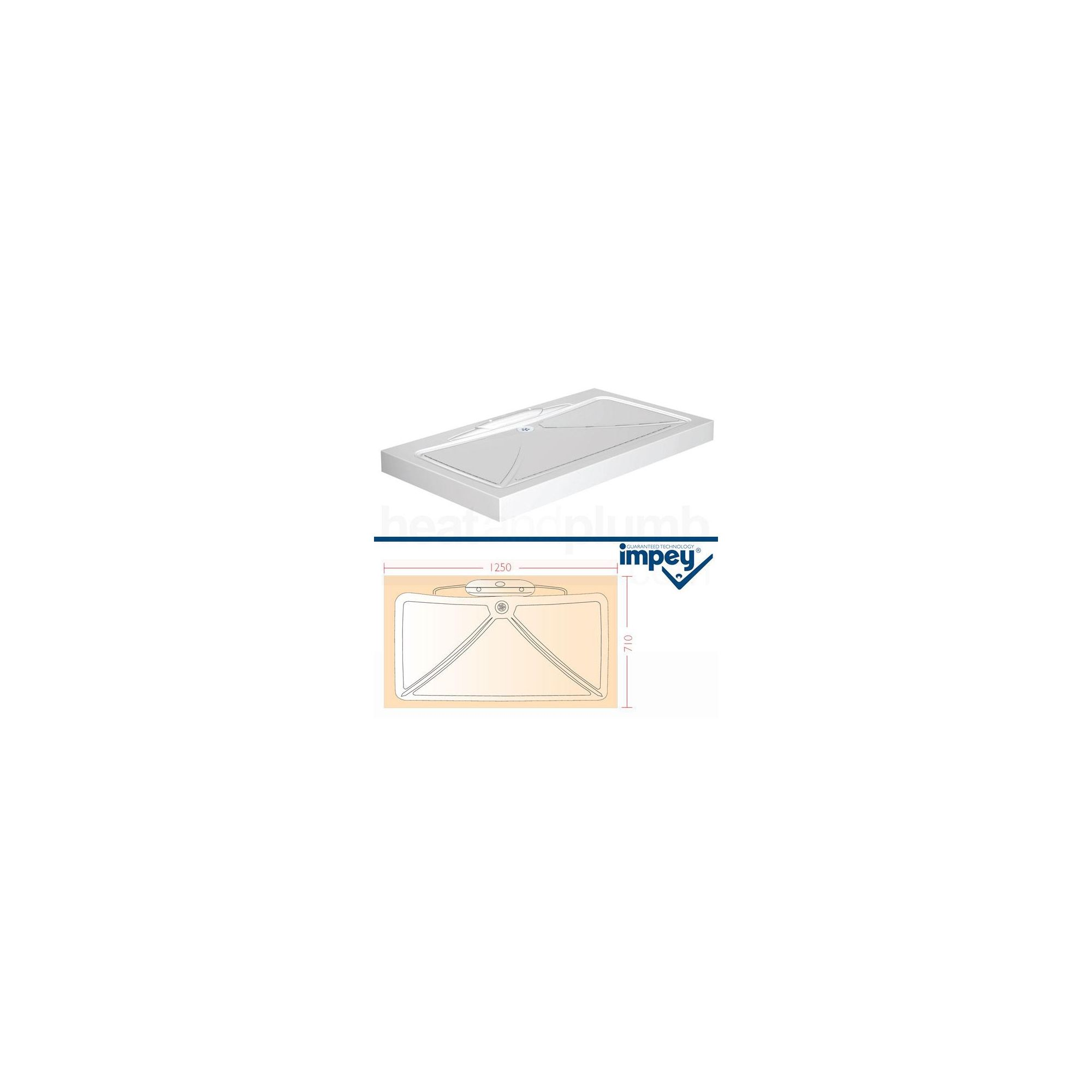 Impey Mendip Shower Tray 1250mm x 710mm at Tescos Direct