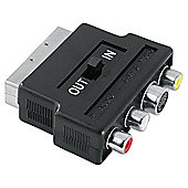 Hama Video Adapter 4-pin S-VHS Socket/ 3 RCA (phono) Jacks - Scart Plug