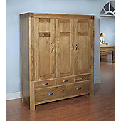 Ametis Santana Blonde Oak Triple Wardrobe