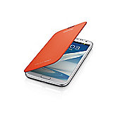 Samsung Original Galaxy Note 2 Flip Case Orange