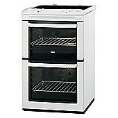 Zanussi ZCV551MWC, 550mm, White, Electric Cooker