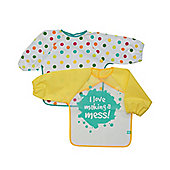 Mothercare I Love Making A Mess Coverall - 2 Pack