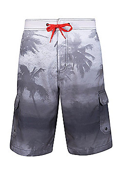 Mountain Warehouse Ocean Pattern Mens Boardshorts ( Size: L )
