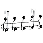Sputnik - Over Door 10 Hook Rack - Silver / Black
