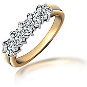 Jewelco London 18 Carat Yellow Gold 1ct Diamond Ring