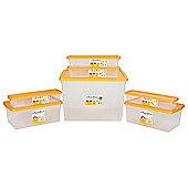 Set of 7 Plastic Storage Boxes