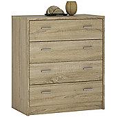 Kensington 4 Drawer Chest Sonama Oak