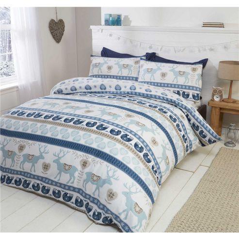 buy rapport skandi brushed cotton christmas duvet cover. Black Bedroom Furniture Sets. Home Design Ideas