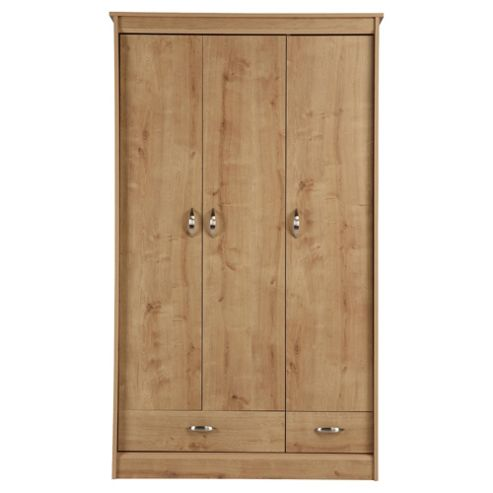 Thornton 3 Door Wardrobe, Oak Effect