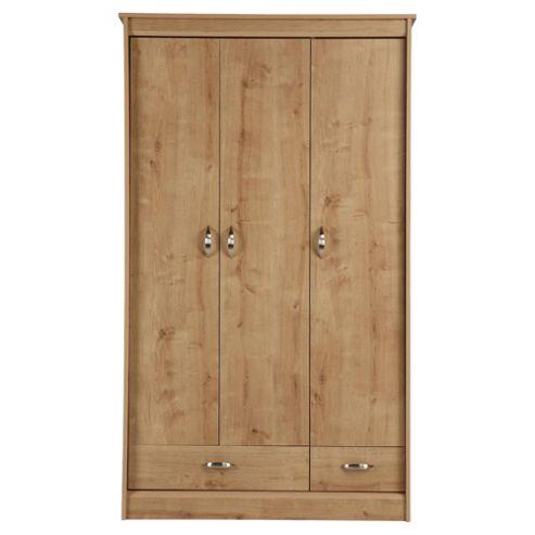 Thornton 3 Door Wardrobe, Oak Effect