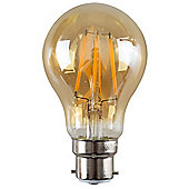 Vintage 4W LED Filament Amber GLS Lightbulb BC B22 - Warm White