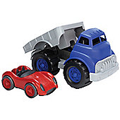 Green Toys FLRA-1481 Flatbed Truck with Race Car