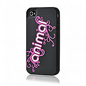 Animal Silicone Corp Logo Black iPhone 4 Case