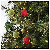 Tesco Crochet Baubles 6 Pack