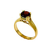 QP Jewellers 1.10ct Garnet Solitaire Ring in 14K Gold