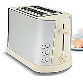 Prestige Stainless Steel & Cream 2 Slice Toaster