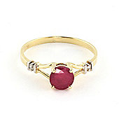 QP Jewellers Diamond & Ruby Aspire Ring in 14K Gold