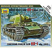 Zvezda - Soviet Heavy Tank KV-1 mod. 1940 - Scale 1/100 6141