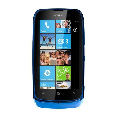 Nokia Lumia 610 Mobile Phone (Cyan)