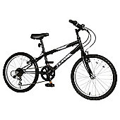 "Terrain Hallam 20"" Kids' Mountain Bike, Black"
